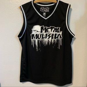 Metal mulisha men's jersey tank size large black
